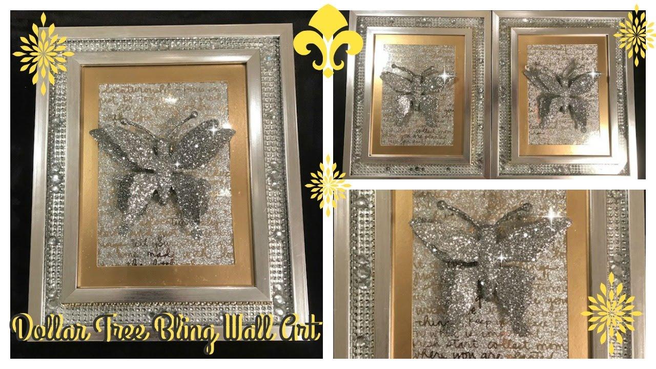 diy dollar tree bling wall art featuring beverlys beautiful butterflies - Dollar Tree Photo Frames