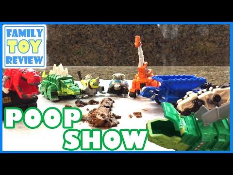 DinoTrux Toys Playtime Episode Mix - 30 Minute DinoTrux Movie - 다이노트럭 Garby Poops - Dinosaur Toys