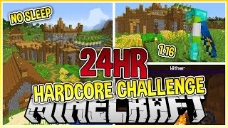 I Played Hardcore Minecraft for 24 Hours Straight...