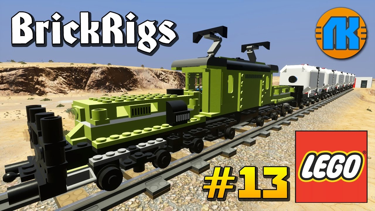 Lego Cars & Trucks vs Lego Train - Brick Rigs - Realistic Crashes .