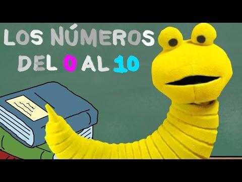 Los Números del 0 al 10 - Educación Infantil - Memo El Gusano