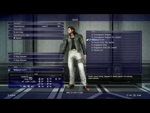 FINAL FANTASY XV - All Outfits / Costumes