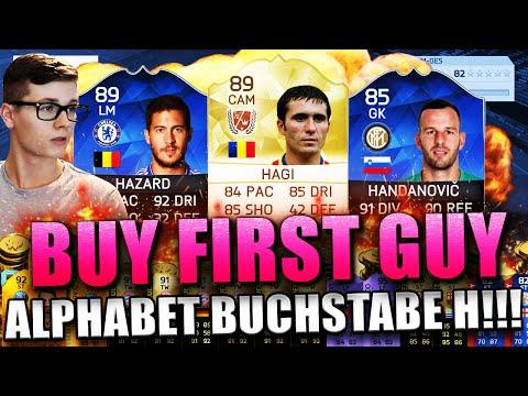 FIFA 16: BUY FIRST GUY (DEUTSCH) - FIFA 16 ULTIMATE TEAM - OMG HAGI & HAZARD! ALPHABET BUCHSTABE H!