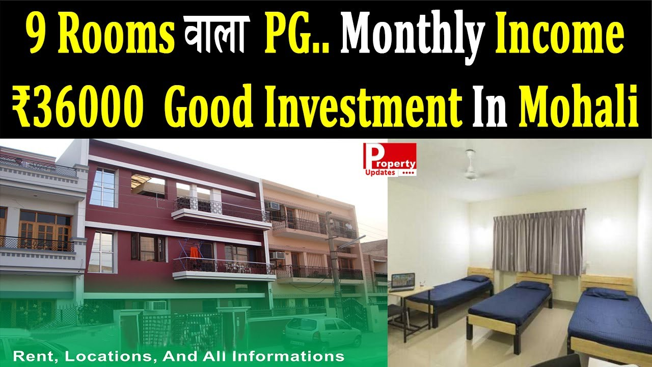 Download 9 Rooms Wala PG 225 Yards Ka Monthly Income ₹36000 | Good Investment In Mohali | Property Updates