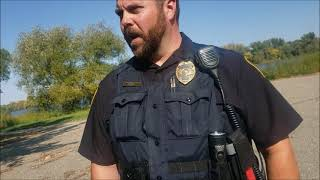 Officer Berry explains that I'm camping in a park; Hutchinson, MN