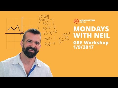 Mondays with Neil GRE Workshop  - 1/9/2017 - Quant: Functions and Verbal: Reading Comprehension