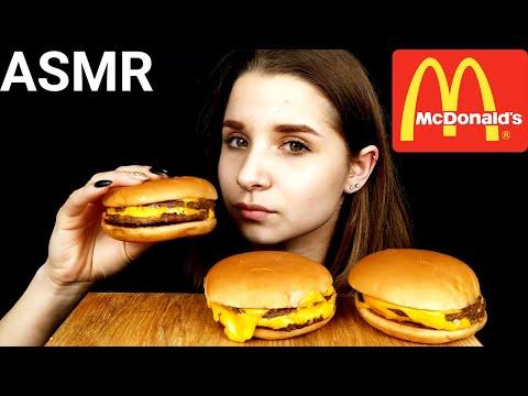 ASMR McDonalds DOUBLE CHEESEBURGER MUKBANG (No Talking) EATING SOUNDS   Tasty ASMR