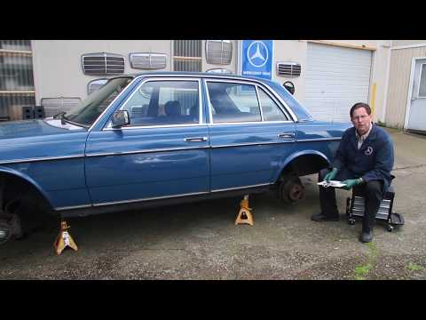 Hunting For Classic Mercedes: Immediate Suspension and Brake Component Inspection Part 1