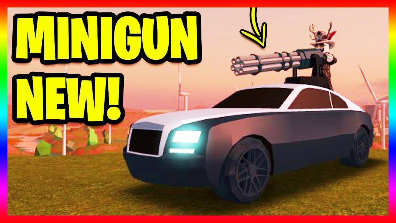 New Minigun Rolls Royce Wraith Roblox Jailbreak Update - this hacker hacked jailbreak and deleted it m07t3m roblox jailbreak
