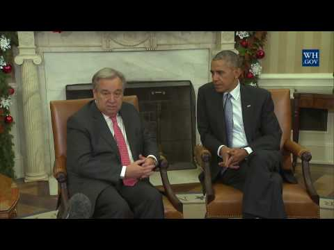President Obama and UN Secretary General Guterres
