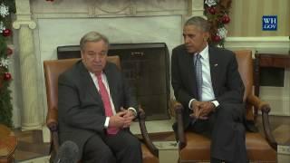 President Obama and UN Secretary General Guterres