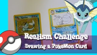 The REALISM CHALLENGE Drawing a POKEMON Card- @dramaticparrot
