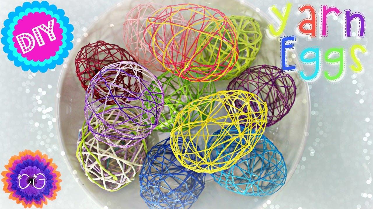Diy Yarn Eggs Fun Easter Craft You