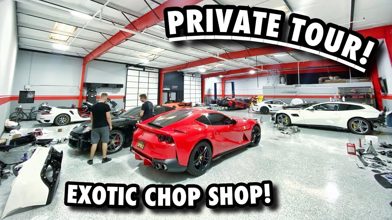 How I SAVED 15,000$ On My Lamborghini Huracan Interior! EXPLORING A SECRET SUPERCAR DUNGEON!!
