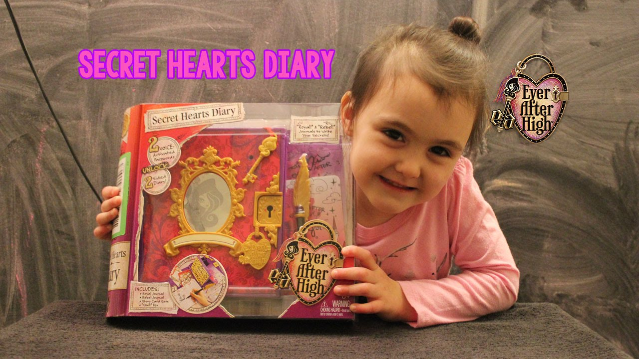 Ever After High Diary Toy : Ever after high secret hearts diary youtube