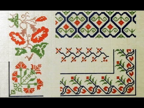 Цветок вышивка крестом схема