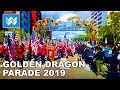 Golden Dragon Parade in Chinatown Los Angeles - Chinese New Year Festival 2019 Walk Tour 【4K】