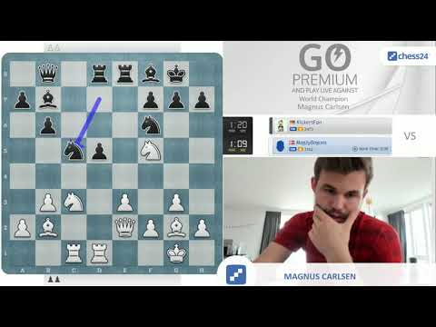 """""""Plans are overrated!""""   Magnus Carlsen vs. chess24 user KickersFan"""