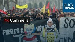 شاهد: تواصل المظاهرات في فرنسا ضد قانون إصلاح أنظمة التقاعد…