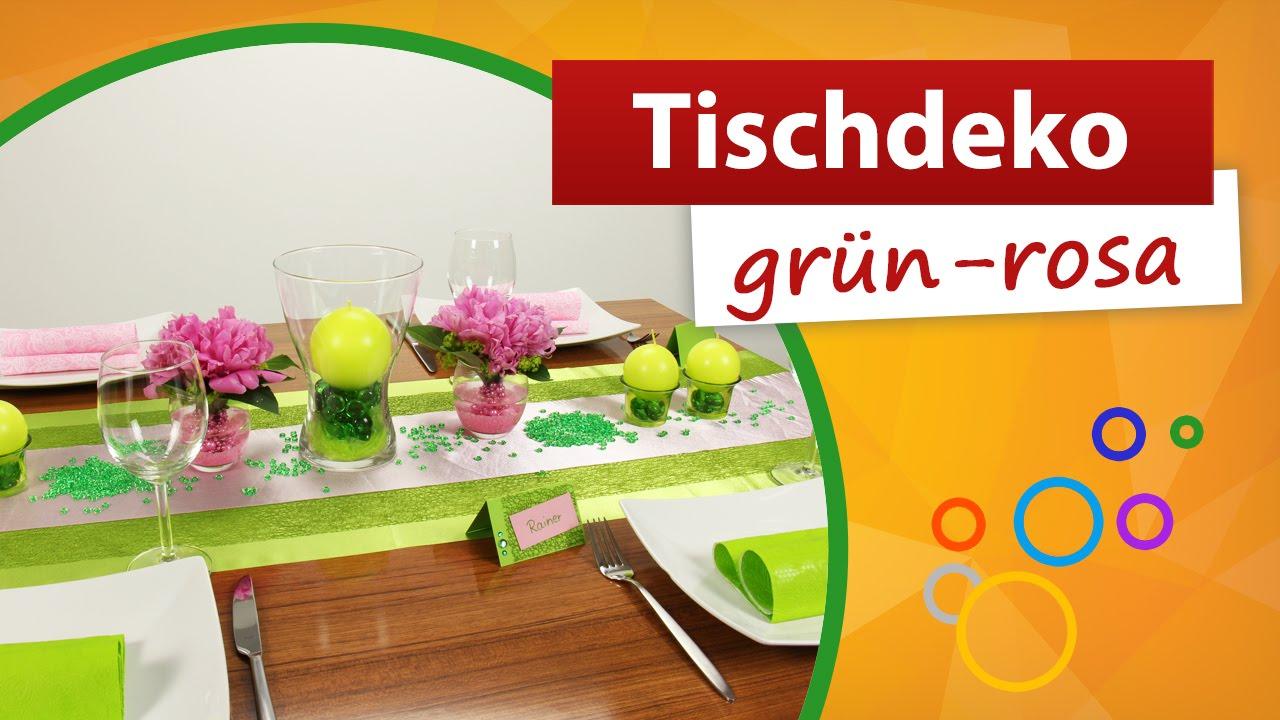 Tischdeko grün rosa ♥  Tischdekoration - Mustertische trendmarkt24 ...