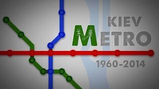 Kyiv metro 1960-2014. История метро(Animated infographics of the history of the Kyiv metro., 2014-12-30T22:13:22.000Z)