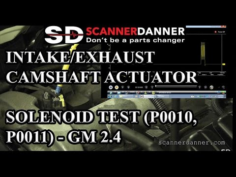 Intake/Exhaust Camshaft Actuator Solenoid test (P0010, P0011) - GM on cmp intake solenoid, ignition solenoid, cmp actuator chevy, egr control solenoid, cylinder deactivation solenoid,