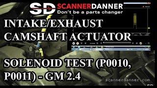Intake/Exhaust Camshaft Actuator Solenoid test (P0010, P0011) - GM 2.4