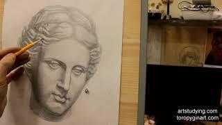 Афродита (9). Обучение рисунку. Портрет. 48 серия