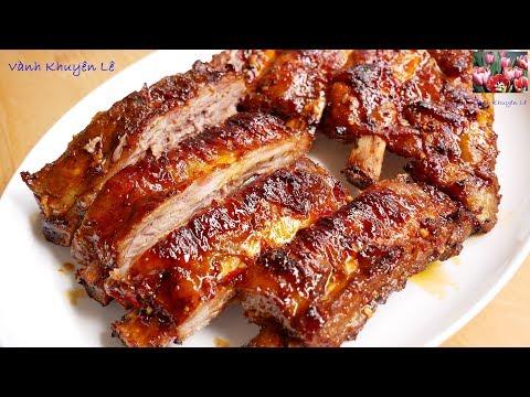 SƯỜN BÒ NƯỚNG - Cách Pha Gia Vị Ướp Sườn Nướng Ngọt Thịt Bóng Mềm KHÔNG Cháy By Vanh Khuyen