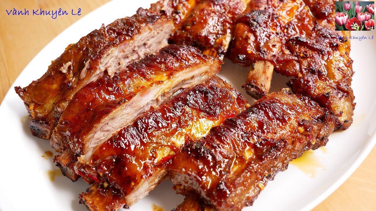 SƯỜN BÒ NƯỚNG – Cách pha Gia vị Ướp Sườn nướng ngọt Thịt bóng mềm KHÔNG cháy by Vanh Khuyen