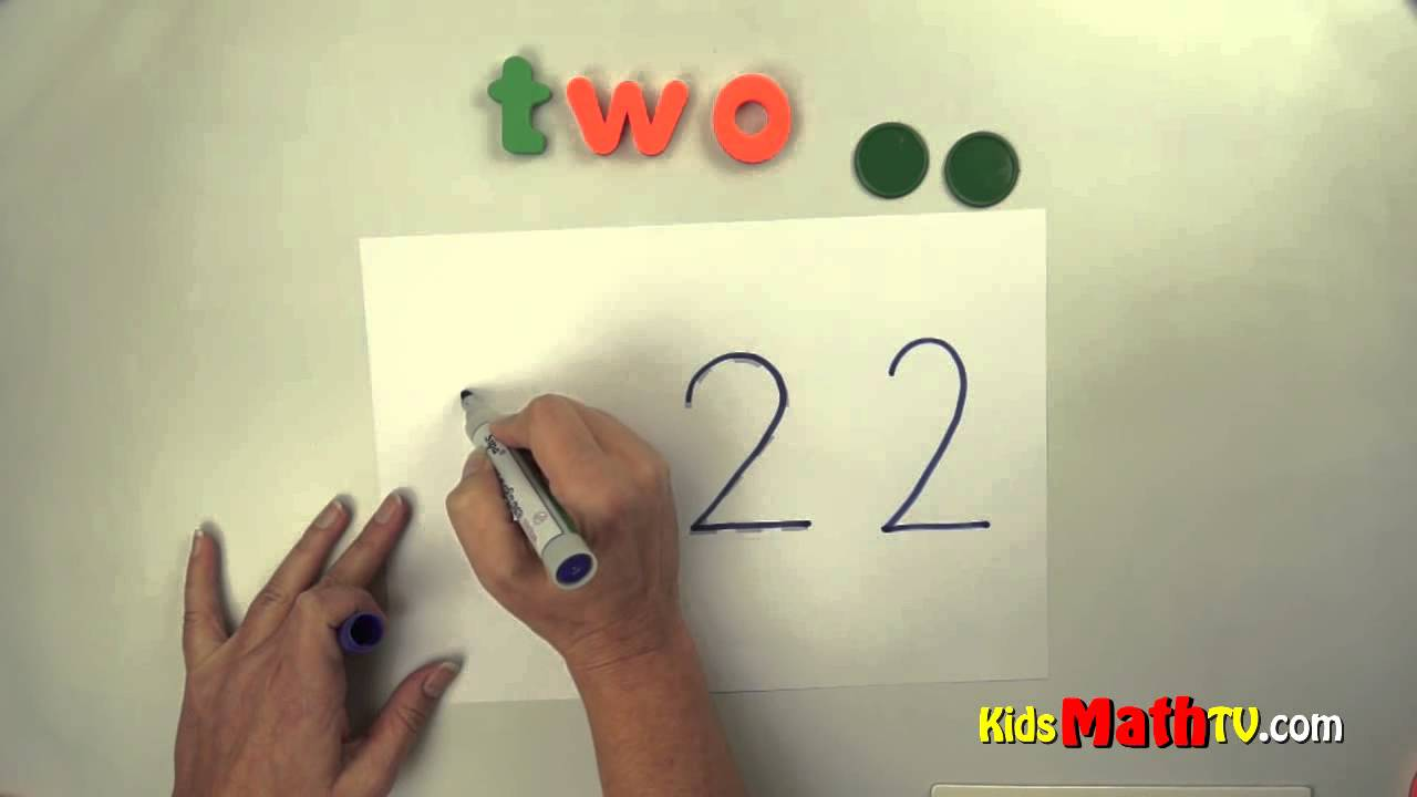 Number two ( 2 ) lesson - tracing, spelling and writing numbers ...