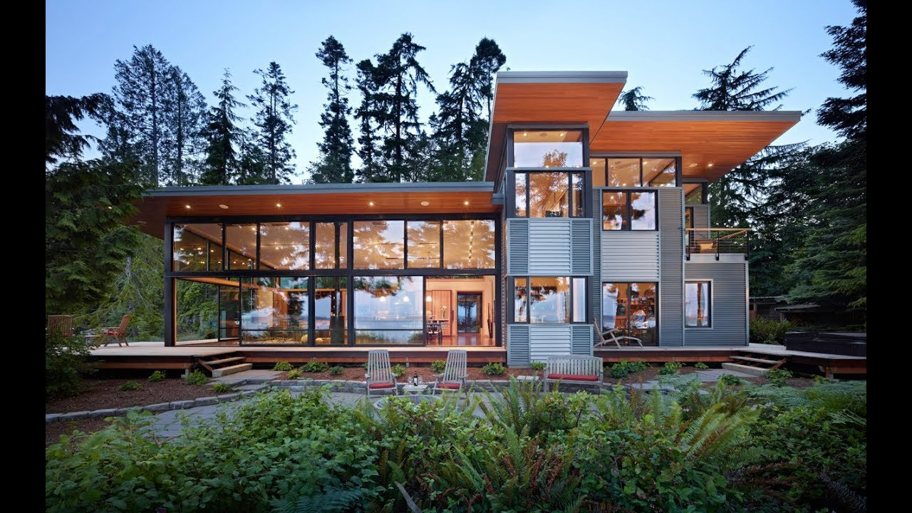 Contemporary Gl House Design With Metal Siding