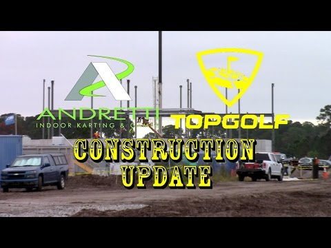 Andretti Indoor Karting & Games / TopGolf Orlando Construction Update 12.21.16 Steel On The Rise!