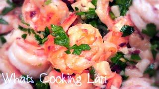 Butter Garlic Shrimp Recipe - Quick Easy Garlic Shrimp - Whats Cooking Lari