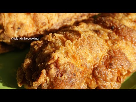 JUICY CRISPY FRIED CHICKEN BREAST| Island Vibe Cooking
