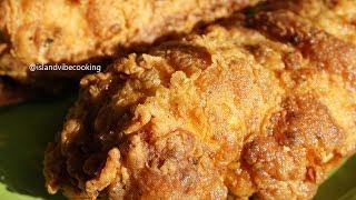 JUICY CRISPY FRIED CHICKEN BREAST| Island Vibe Cooking
