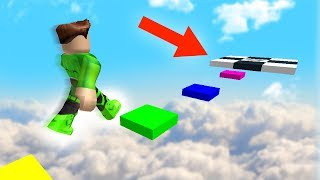 MILE HIGH RAINBOW OBSTACLE COURSE! (Roblox)