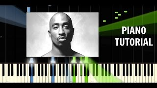 2pac   changes   piano easy tutorial   synthesia