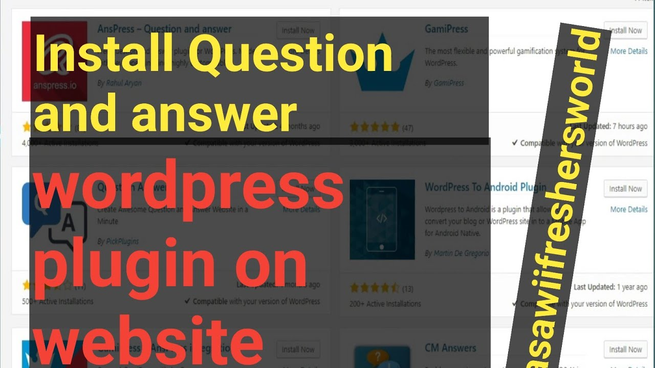 How to Install AnsPress P
