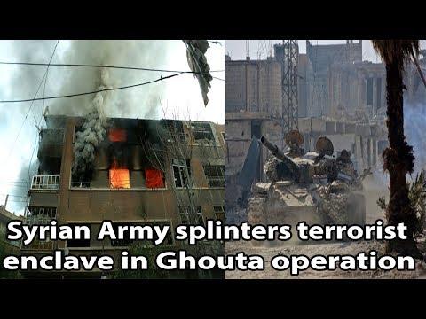 Syrian Army splinters terrorist enclave in Ghouta operation|| World News Radio