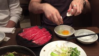 How to eat sukiyaki in Japan