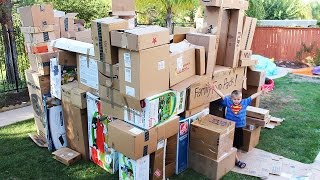 World's Biggest Box Fort