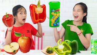 Thi Ăn Đồ Ăn Cùng Một Màu ❤ Chỉ Ăn Một Màu Thức Ăn   Trang Vlog