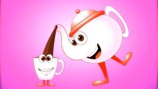 Ich bin ein wenig Teekanne Kinderlied | Karikatur-Animations-Lieder Für Kinder