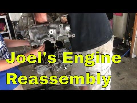 Putting Joel's VW Engine Case Back Together For His 1971 Bus