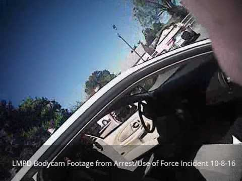 LMPD Body Camera Footage from Arrest/Use of Force Incident, Oct 8, 2016,  1300 blk Berry Blvd