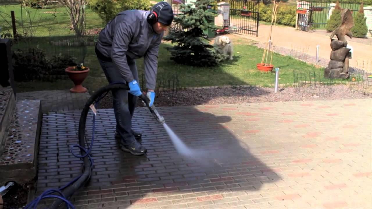 очистка тротуарной плитки от цементного раствора