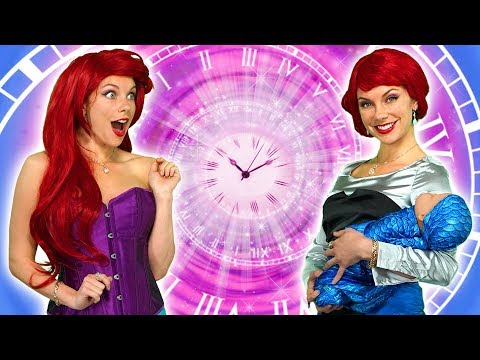 DISNEY PRINCESS TIME TRAVELERS Ariel Jasmine Belle Anna and Elsa See Their Future Totally TV