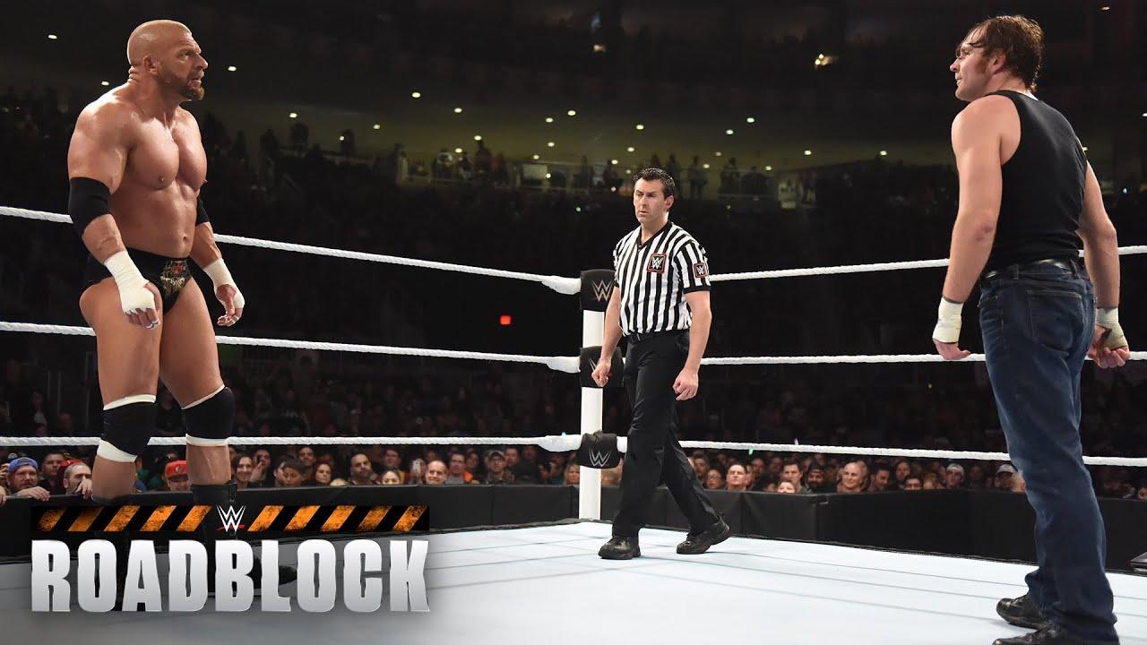Dean Ambrose vs. Triple H – WWE World Heavyweight Titel Match: WWE Roadblock 2016