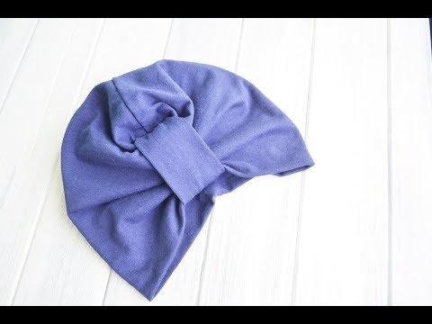 Как сшить шапку чалму из шарфа